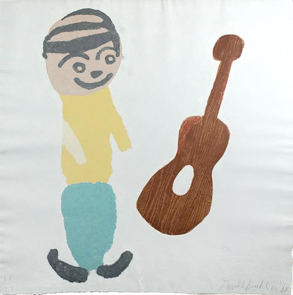 ドナルド・バチュラー「ギターのある構成」/Donald Baechler
