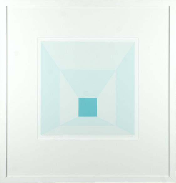 ジョセフ・アルバース版画額「Mitered Square i」/Josef Albers