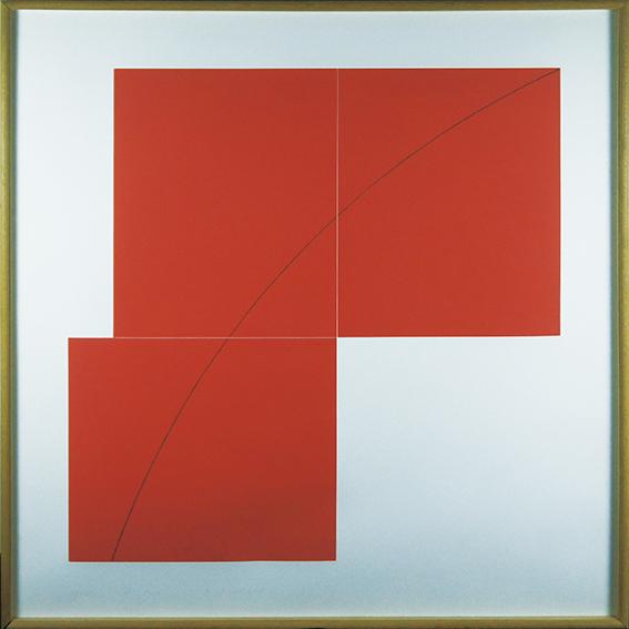 ロバート・マンゴールド版画額「A Red」/Robert Mangold