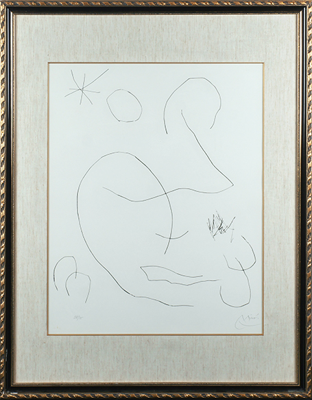 ジョアン・ミロ版画額/Joan Miro