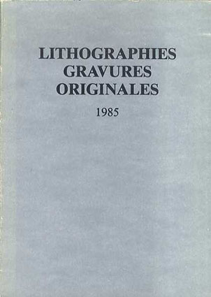 Lithographies Gravures Originales 1985/
