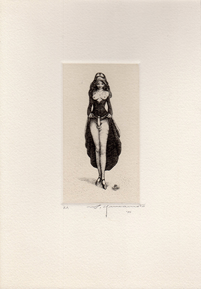 山本六三版画「ヘルマフロディトゥス」/Mutsumi Yamamoto