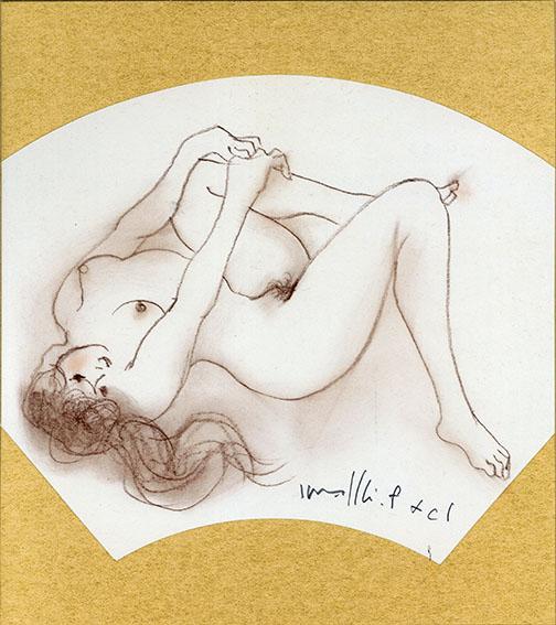 古沢岩美自筆色紙「裸婦図」 #10/Iwami Furusawa