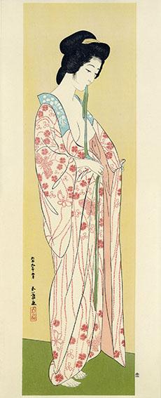 橋口五葉版画「長襦袢の女」/Goyo Hashiguchi