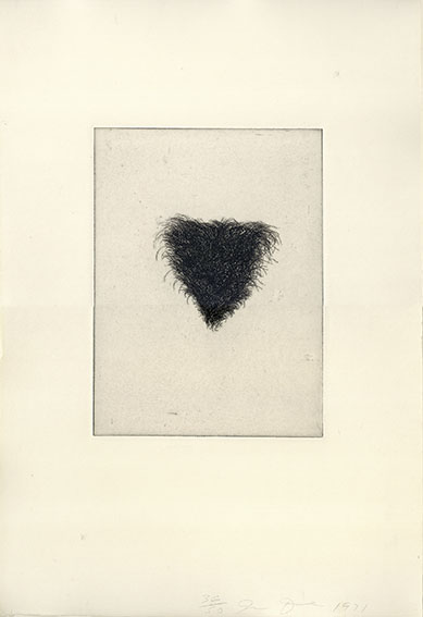 ジム・ダイン版画「Four Kinds of Pubic Hair」#1/Jim Dine