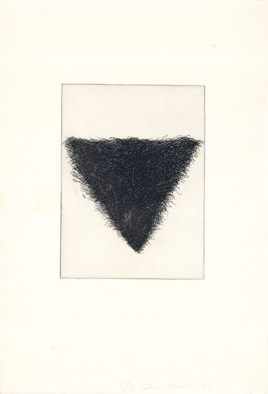 ジム・ダイン版画「Four Kinds of Pubic Hair」#2/Jim Dine