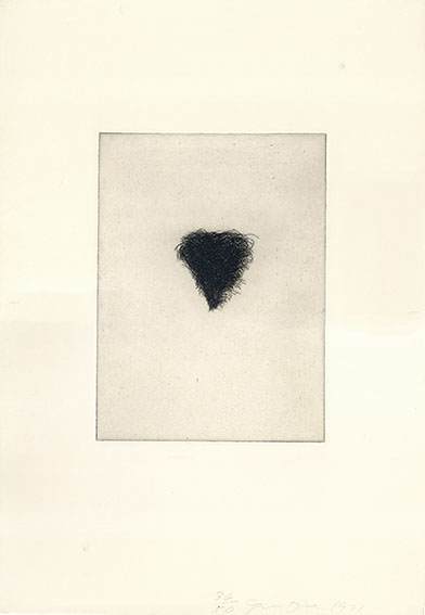 ジム・ダイン版画「Four Kinds of Pubic Hair」#3/Jim Dine