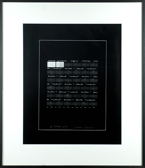 野村仁プリント額「Pleiades Score」/Hitoshi Nomura