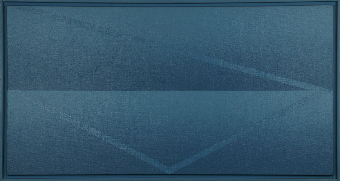 近藤竜男画額「Three Diagonal Stripes: Blue No.86.5」/Tatsuo Kondo