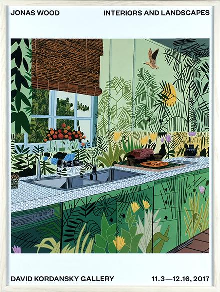 ジョナス・ウッド ポスター額「Interiors and Landscapes」/Jonas Wood