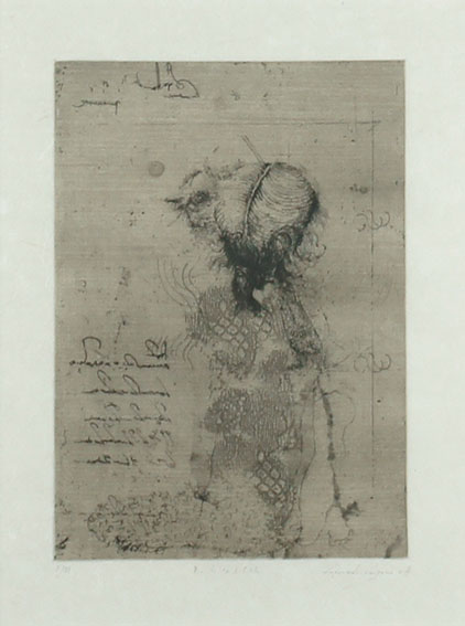 重野克明版画「鳥になる方法」/Katsuaki Shigeno