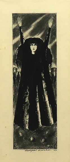 金子国義画額「女性像」/Kuniyoshi Kaneko
