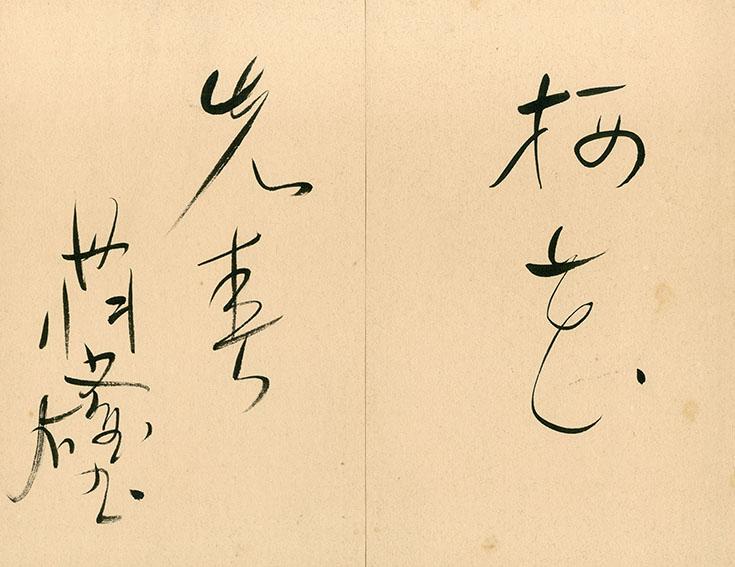 丹羽文雄 書/Humio Niwa