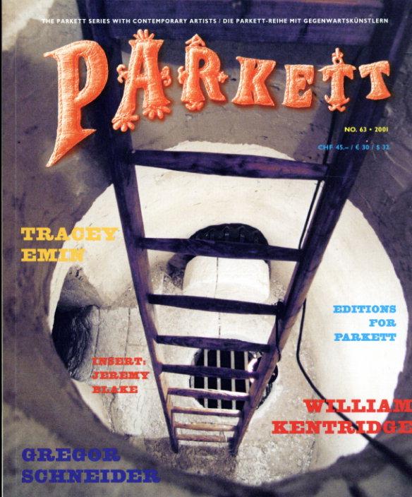 パルケット Parkett 63/Tracey Emin/William Kentridge/Gregor Scheider