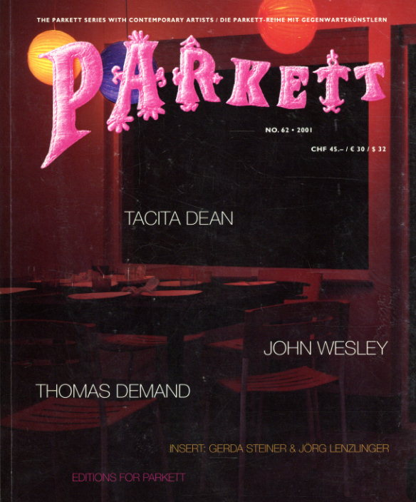 パルケット Parkett 62/Tacita Dean/John Wesley/Thomas Demand