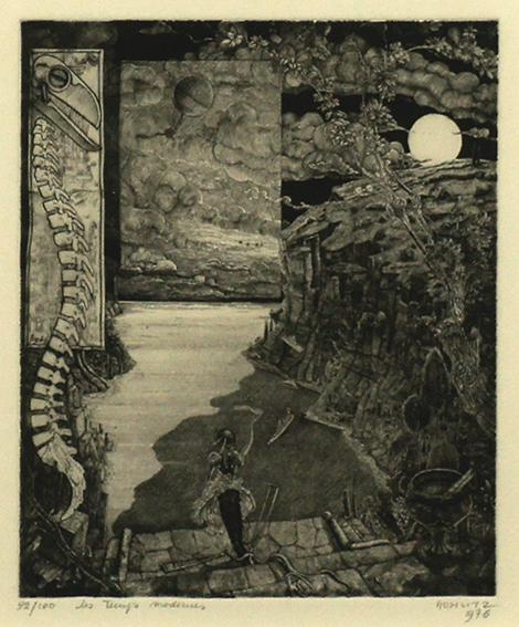 フィリップ・モーリッツ版画額「現代」「現代」/フィリップ・モーリッツ