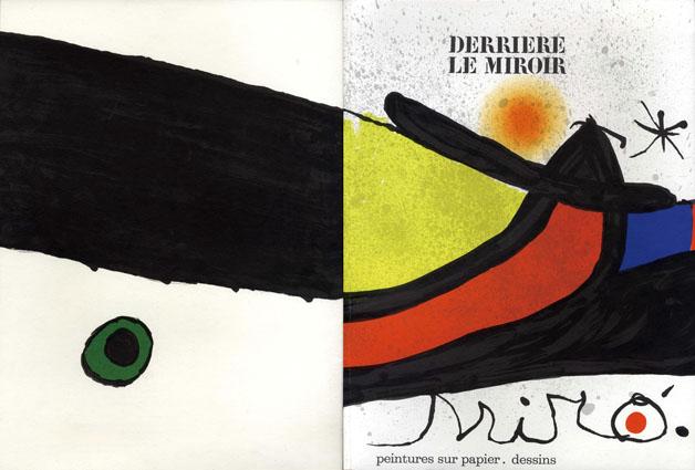 デリエール・ル・ミロワール193-194 Derriere Le Miroir No193-194 Miro. Peintures Sur Papier /Joan Miro