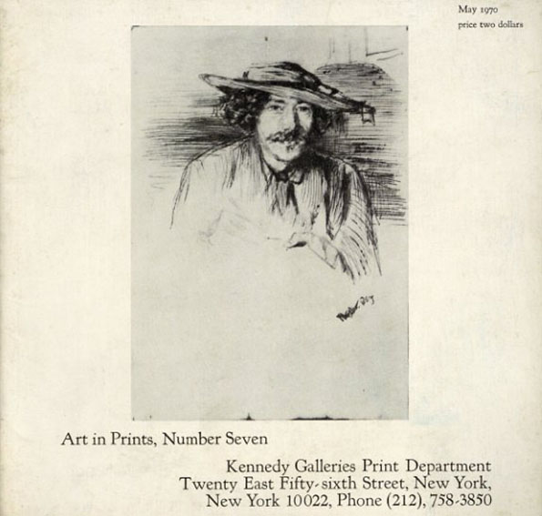 ホイッスラー James A. McNeill Whistler 1834-1903; An exhibition of Important Prints. (Art in Prints, Number Seven)/