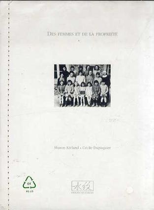 シャロン・キヴランド Sharon Kivland: Des femmes et de la propriete/Sharon Kivland/Cecile Dupaquier