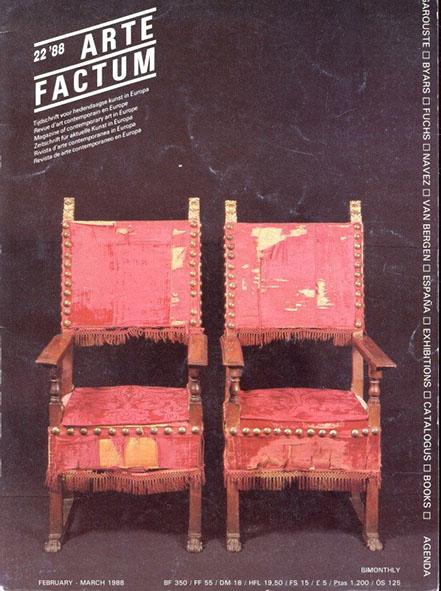 Arte Factum Febr-March1988 Magazine of contemporary Art in Europe NR22/