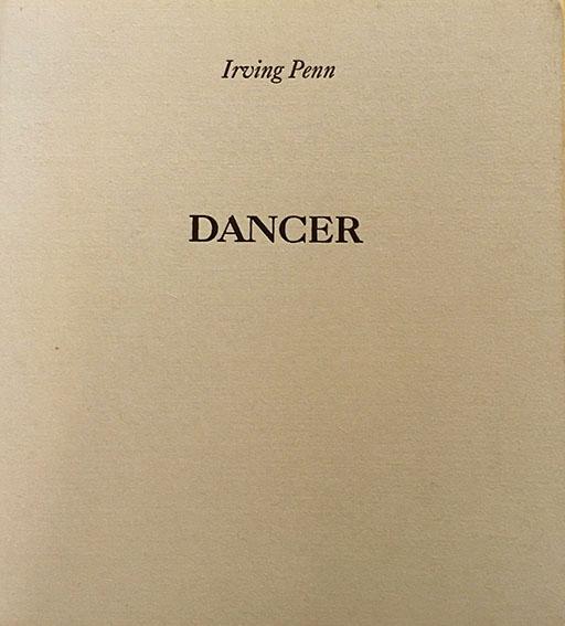 アーヴィング・ペン写真集 Irving Penn: Dancer Photographs of Alexandra Beller/Irving Penn