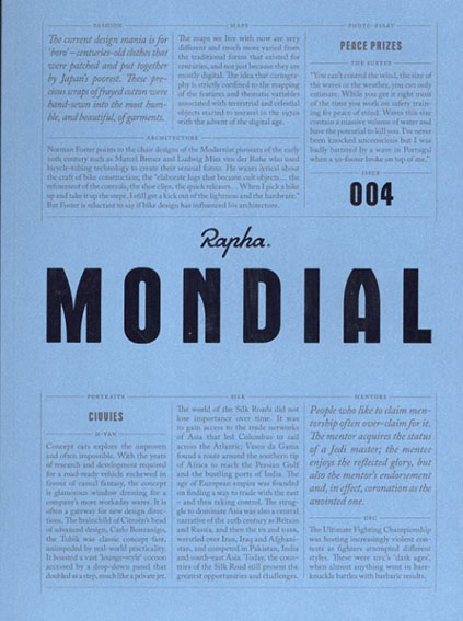 Rapha Mondial Magazine issue004/