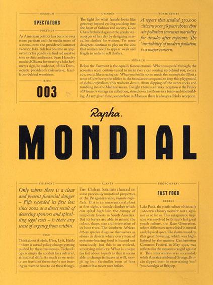 Rapha Mondial Magazine issue003/