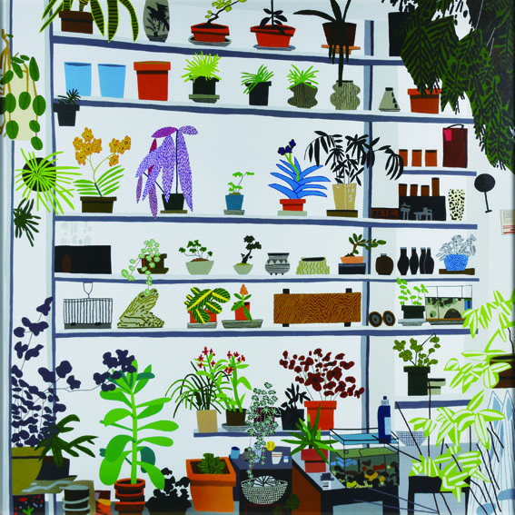 Large Shelf Still Life/ジョナス・ウッド/シオ・クサカ