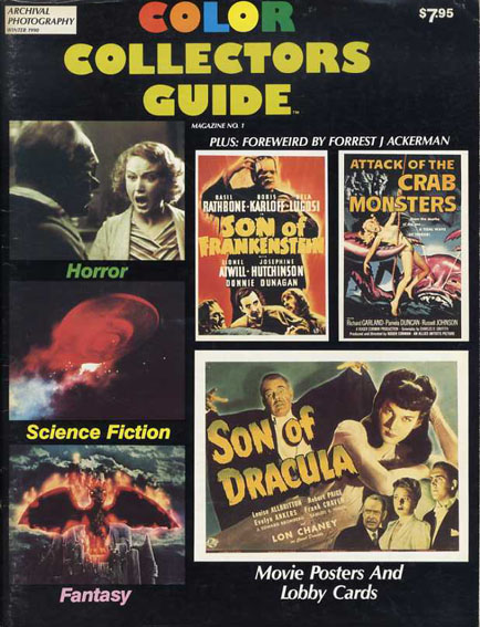 映画ポスター&ロビーカード集 Color Collectors Guide No.1: Movie Posters and Lobby Cards Robert Brosch編