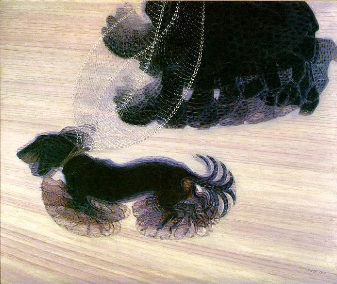 「鎖に繋がれた犬のダイナミズム」