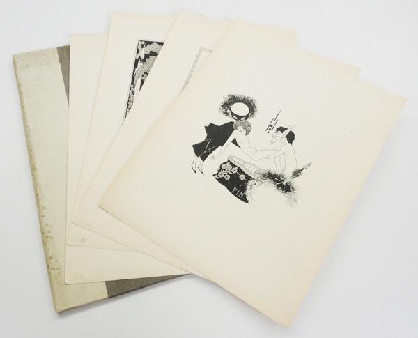 オーブリー・ビアズリー版画「サロメ」4枚入 Aubrey Beardsley  リトグラフ