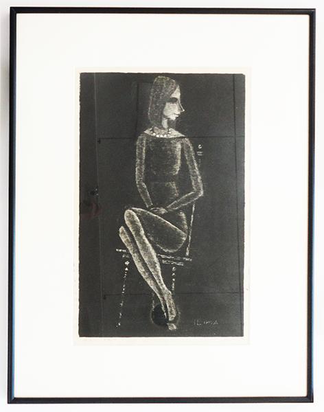 池田修三版画額「首飾の女」 池田修三 1996 木版画 限50 サイン