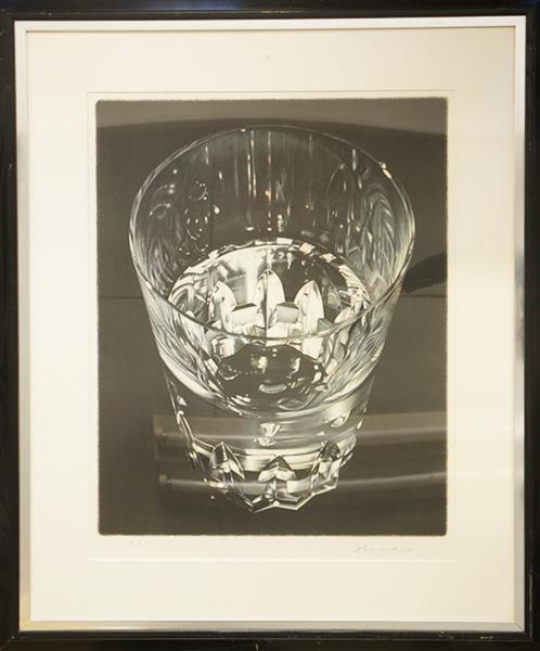 上田薫版画額 「グラス」 Kaoru Ueda  リトグラフ E.A版 サイン