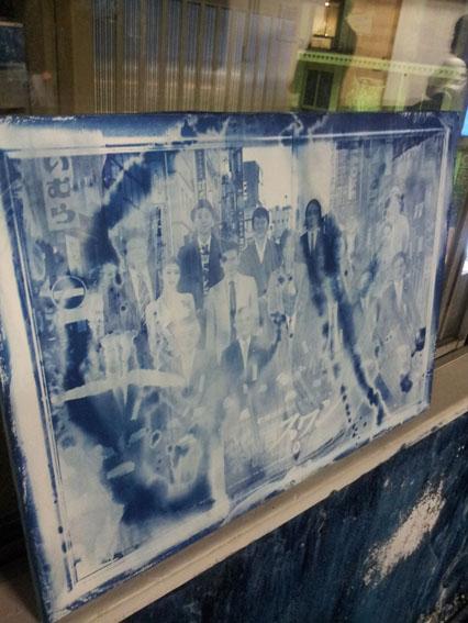 作品の名前は「青写真を描くversion2」。