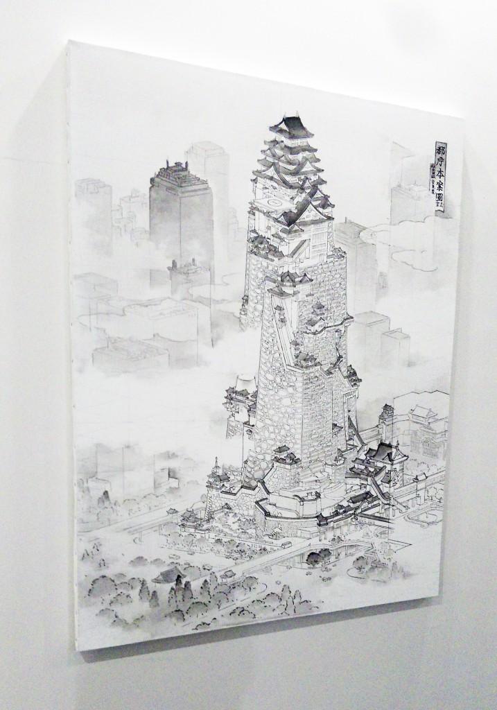 山口晃「都庁本案図」