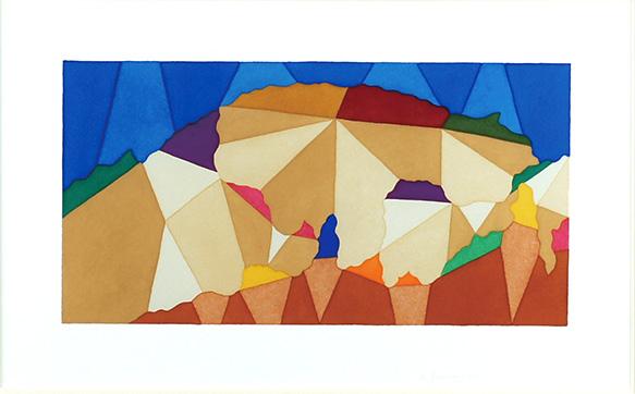 山村国晶画額「ウラノ山」