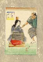 伊藤晴雨画額「石抱の拷問」/