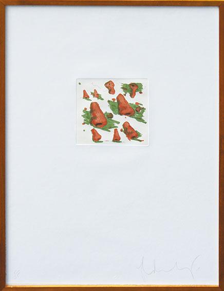クレス・オルデンバーグ版画額「鼻のある風景」/Claes Oldenburg