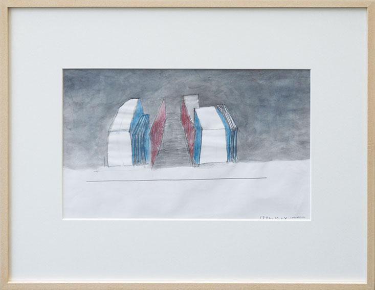 若林奮画額「Untitled 1992.11.24」 /Isamu Wakabayashi