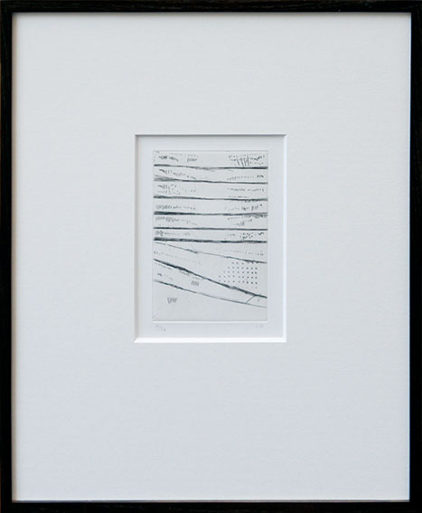 若林奮版画額「52記より」/Isamu Wakabayashi