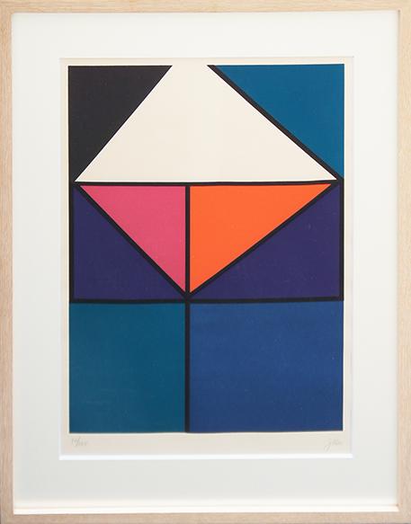 ヨハネス・イッテン版画額「Composition」/Johannes Itten