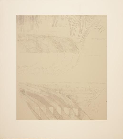 若林奮銅版画額/Isamu Wakabayashi