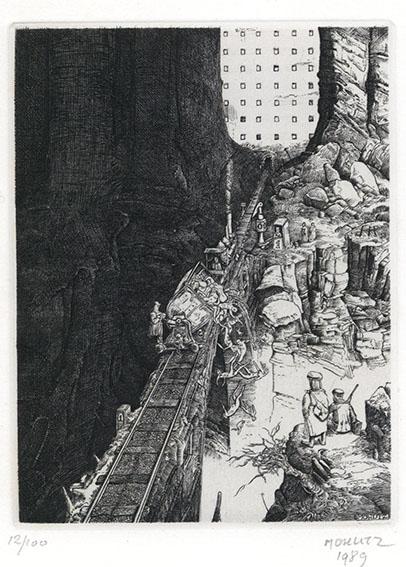 フィリップ・モーリッツ版画「Decharge」/Philippe Mohlitz